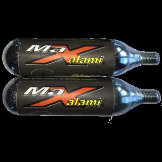 """MaXalami """"Blast"""" CO2 Kartusche, 25g, mit Gewinde, 2 Stück"""