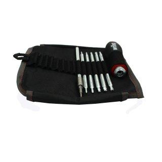 Wiha System 6 Schraubendreherset mit Wechselklingen - Biker Set
